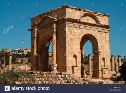 Northern Tetrapylon Jerash | North Tetrapylon Roman City of Jerash Jordan Stock Photo, Royalty ...