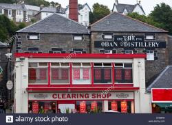 Oban Distillery Argyll and the Isles | Oban distillery, 1794, Oban, Argyll and Bute, Scotland Stock Photo ...