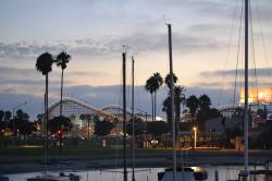 Ocean Beach Farmers Market San Diego | Overlooking Belmont Park aboard the Bahia Belle on a sunset cruise ...