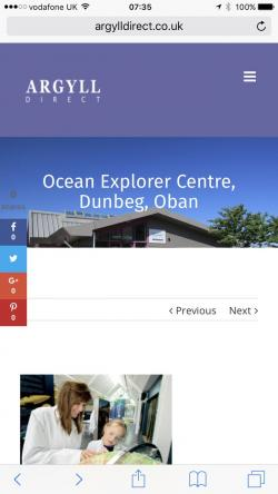 Ocean Explorer Centre Argyll and the Isles | dunstaffnage hashtag on Twitter
