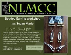 Officers' Square Fredericton | Northern Life Museum: Beaded Earring Workshop with Suzan Marie ...