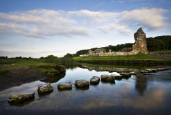 Ogmore Castle South Wales   STEPPING STONES & OGMORE CASTLE. BRIDGEND, SOUTH WALES.   Flickr
