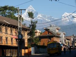 Old Pokhara Pokhara | Old Bazar (Pokhara) | Early in the morning... schoolbus is w… | Flickr