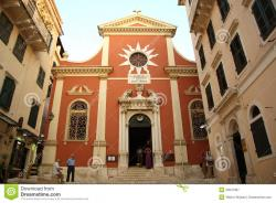 Orthodox Cathedral Corfu   Cathedral In Corfu Town (Greece) Editorial Photography - Image ...