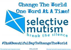 Other Groups My Son | Join the FB Group: Selective Mutism Awareness that my son started ...