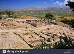 Palace of Phaistos Crete | Partial view of the Minoan palace in Phaistos (or