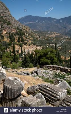 Parnassos National Park Delphi & Sterea Ellada | Ancient Delphi Mount Parnassus Sterea Ellada Greece Stock Photo ...