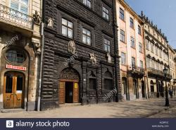 Ploshcha Rynok Lviv | The famouse black mansion and other typical architecture in old ...