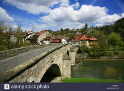 Pont du Milieu Fribourg | Switzerland, Fribourg on the Sarine River, 'Pont du Milieu ...