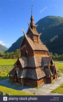 Preikestolen Southern Norway | the old stavkirke of Borgund near Sognefjord and Laerdal Norway ...