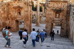 Propylaeum Jerash | Panoramio - Photo of Jerash. Propylaeum... (Gateway to theTemple ...