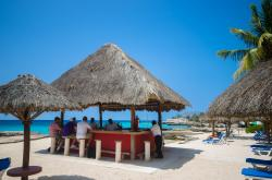 Punta Sur National Park Cozumel | This little stand alone bar is at Playa Azul Beach Club, located ...