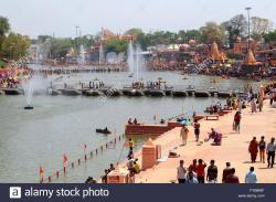 Ram Ghat Ujjain | Ujjain, India. 23rd Apr, 2016. A view of Shipra river at Ramghat ...