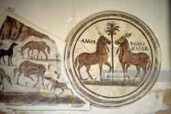 Roman Circus Tunis | Circus Winning Steeds Named Amor And Dominator Mosaic From House ...