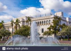 San Diego Automotive Museum San Diego | Bea Evenson Fountain and the Natural History Museum. Balboa Park ...