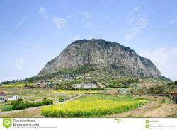 Sanbangsan Jeju-do | Jeju-do, Korea - April 11. 2015: Sanbangsan Mountain Editorial ...