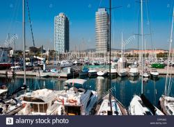 Sant Agustí Barcelona | Port Olimpic Marina, (Port Olympic Marina), Barcelona, Spain Stock ...