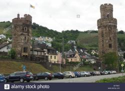 Schloss Kropsburg The Pfalz and Rhine Terrace   German Wine Route Stock Photos & German Wine Route Stock Images ...