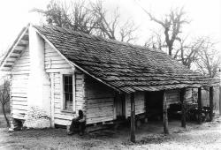 Slave Huts South End   pics of american mullato slaves   Slave house at Thornhill ...