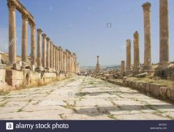 Southern Tetrapylon Jerash | The Southern Tetrapylon a crossroads on the Cardo Maximus in ...