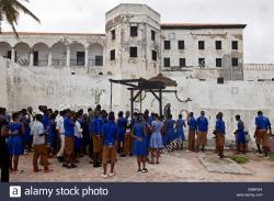 St George's Castle Elmina | Students at St. George's Castle, Elmina, Gold Coast, Ghana, Africa ...
