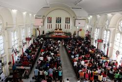 St John's Cathedral Kuala Lumpur | Bibles blessed at all Masses in St John's Cathedral