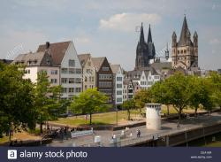 St. Martin The Rhineland | Churches Great St. Martin and Dom, Cologne, Rhineland, North Stock ...