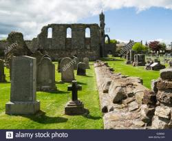 St. Rule's Tower Fife and Angus | Ruins nave and St Rule's Tower St Andrews Cathedral Fife Scotland ...