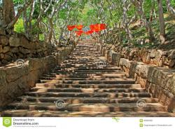 Stairway Mihintale | The Great Stairway, Mihintale, Anuradhapura, Sri Lanka Stock Photo ...