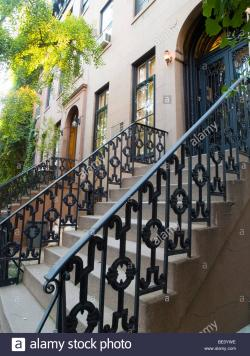 Staten Island Museum New York City | Front steps on St Luke's Place in Greenwich Village, New York City ...