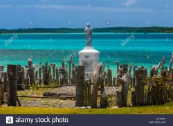 Statue of St Maurice Vao | Statue of St. Maurice, St. Maurice Bay, near Vao, Ile des Pins ...