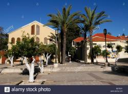 Suzanne Dellal Centre for Dance and Theatre Tel Aviv | Citrus and palm trees at the courtyard of The Suzanne Dellal ...