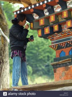 Tamshing Goemba Chokhor Valley | Woman calligraphing at Tamshing Monastery, Chokhor Valley ...