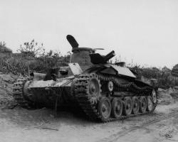 Tank and Japanese Cannon Peleliu | 122 best WW2 Japanese equipment images on Pinterest | Military ...