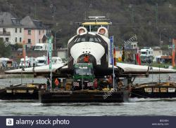 Technik Museum The Pfalz and Rhine Terrace | Russian space shuttle Buran on its way to the Technical Museum in ...