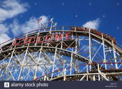 The Hole New York City | Cyclone roller coaster, Coney Island, Brooklyn, New York City, USA ...