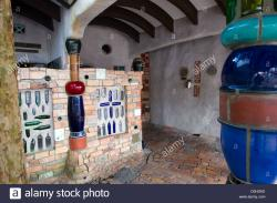 The Hundertwasser Public Toilets Northland and the Bay of Islands | Hundertwasser Toilets, Kawakawa, Bay of Islands, New Zealand Stock ...