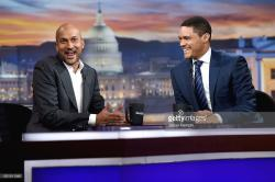 The Kaufman Arts District New York City | actor-keeganmichael-key-and-host-trevor-noah-on-the-daily-show -with-picture-id621811346