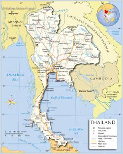 This Is Us Bangkok Region | Regions Map of Thailand - Nations Online Project