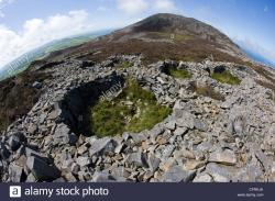Tre'r Ceiri North Wales | The remains of Iron Age roundhouses in Tre'r Ceiri hill fort in ...