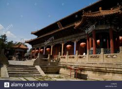 Tulou Temple The Silk Road | Dai Temple, Tai an, Shandong Province, China Stock Photo, Royalty ...