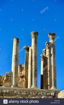 Upper Temple of Zeus Jerash | Jerash, Jordan The upper temple of Zeus Stock Photo, Royalty Free ...