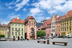 U.S. General George S. Patton Memorial Western Bohemia | Spalicek - complex of medieval houses, town Cheb, West Bohemia ...