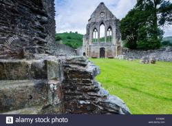 Valle Crucis Abbey North Wales | Ruins of Valle Crucis Abbey, Llangollen, north Wales Stock Photo ...