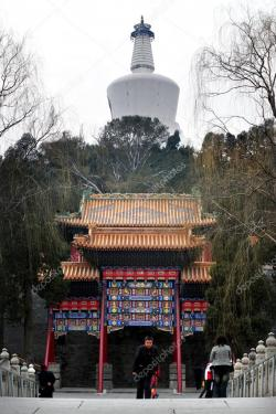 Wénchāng Gallery Běijīng | The Temple of the white Pagoda in Beijing China – Stock Editorial ...