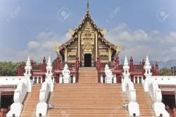 Wat Chang Kham Northern Thailand | Ho Kham Luang, The Northern Thai Style Building In Royal Flora ...