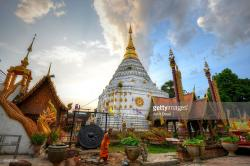 Wat Chiang Yuen Chiang Mai | Wat Chiang Yuen Chiang Mai Stock Photo | Getty Images