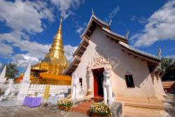 Wat Phra That Chae Hang Northern Thailand | Sanctuary And Pagodas In Wat Phra That Chae Haeng.Nan Province ...