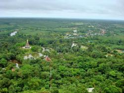 Wat Phu Thok Bueng Kan Province | Over View Wat Phu Thok And Small Village From The Mountain Stock ...