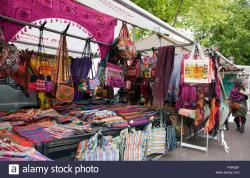 Waterlooplein Amsterdam | Wildly colorful textiles tempt shoppers at the Waterlooplein flea ...